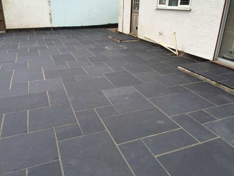 Black Limestone With Easy Joint Pointing